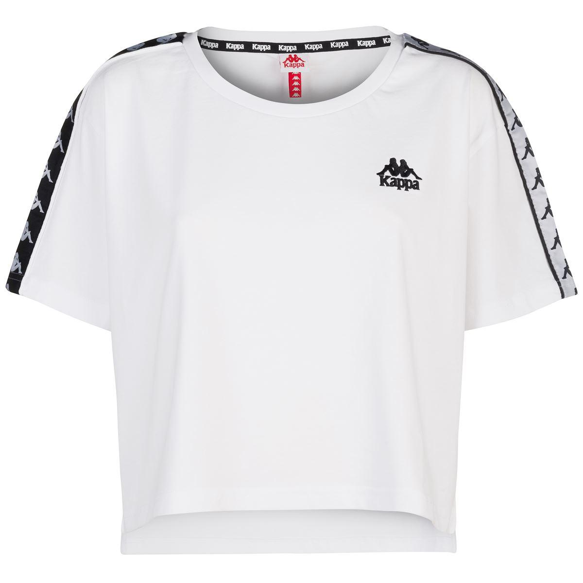 Kappa T-Shirt Apua Nero Donna